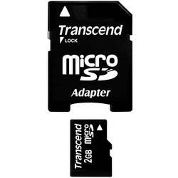 Pamäťová karta micro SD, 2 GB, Transcend TS2GUSD, Class 2, vr. SD adaptéru