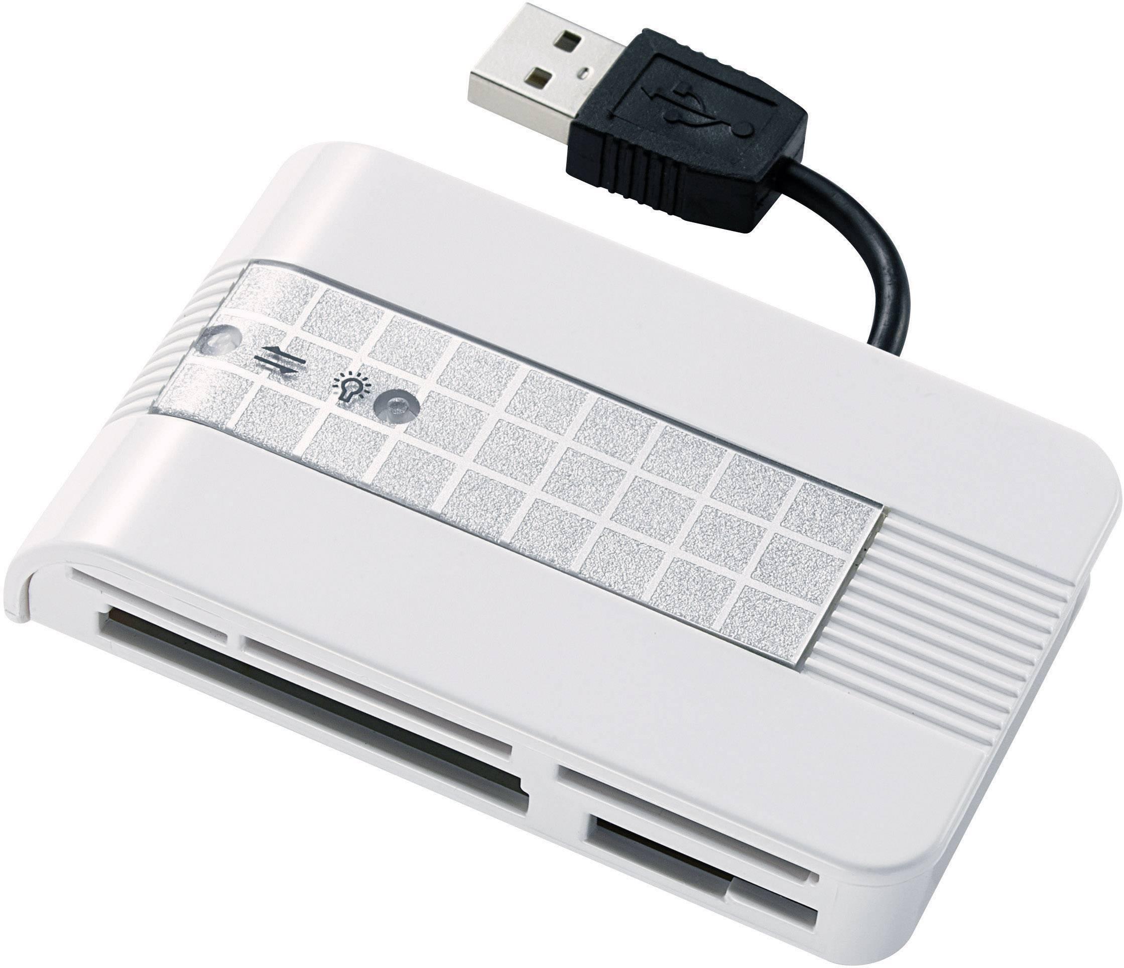 Externí čtečka paměťových karet Renkforce CR22e-SIM, USB 2.0, stříbrná