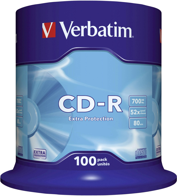 Verbatim CD-R80 700MB 52X 100 ks cake box