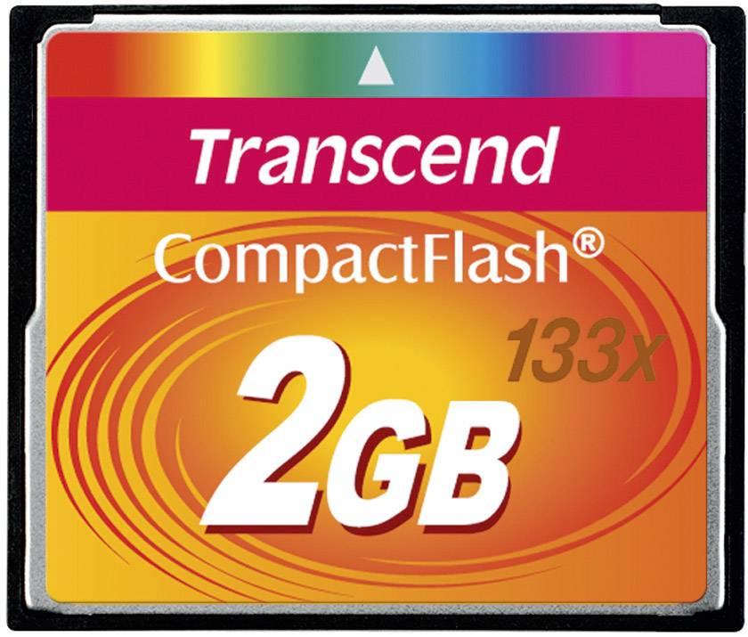 CF pamäťová karta, 2 GB, Transcend Standard 133x TS2GCF133