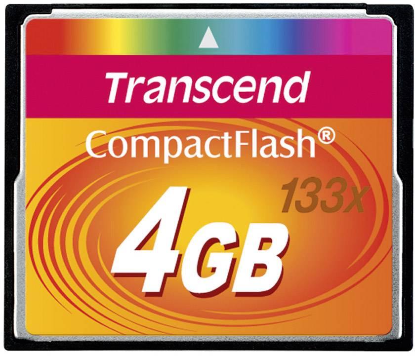 CF pamäťová karta, 4 GB, Transcend Standard 133x TS4GCF133