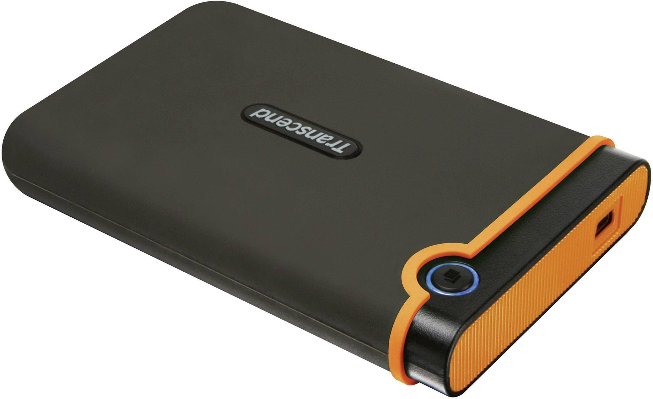 "Externý pevný disk 6,35 cm (2,5"") Transcend StoreJet 25M2, 1 TB, USB 2.0, tmavosivá, oranžová"