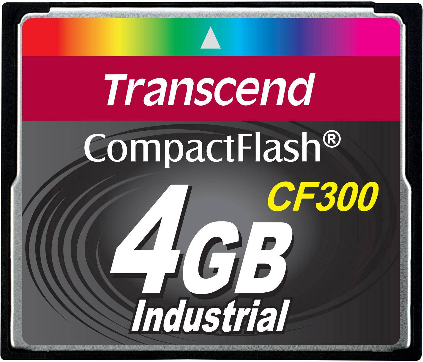Paměťová karta CF Transcend Industrial, CF300, 4GB, 300x