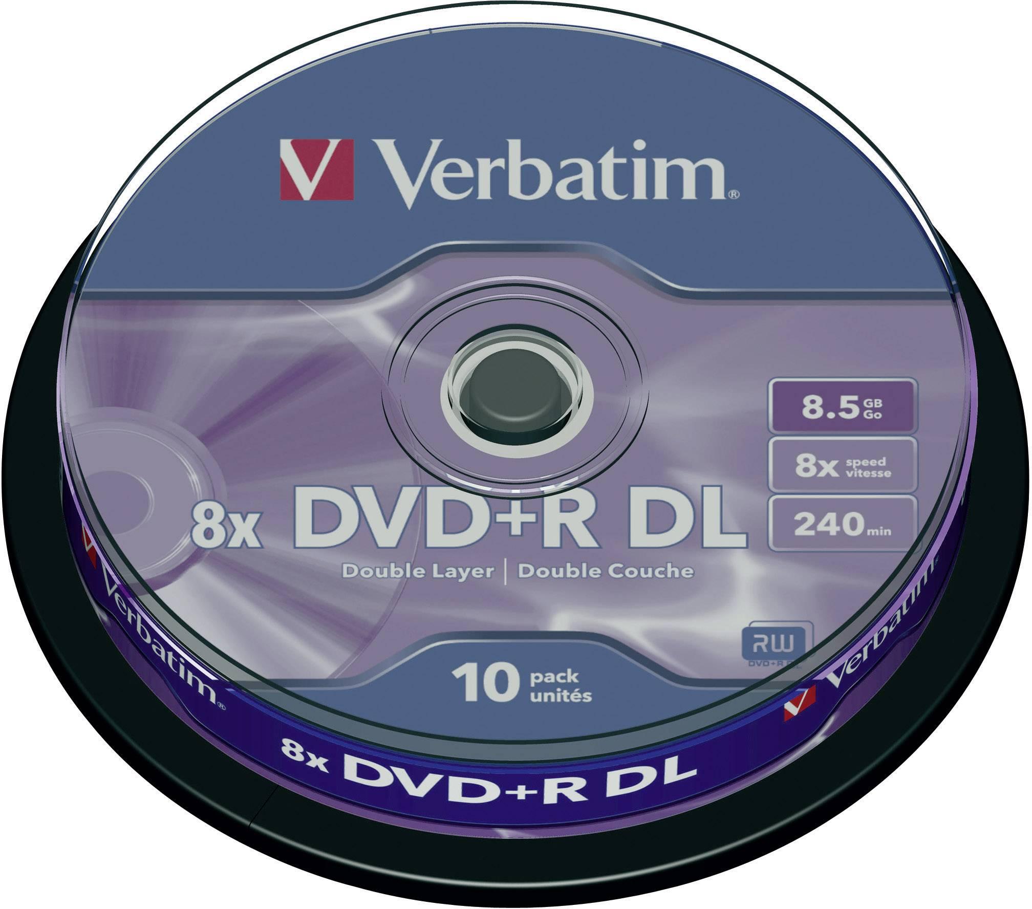 DVD+R DL 8.5 GB Verbatim 43666, 10 ks, vreteno