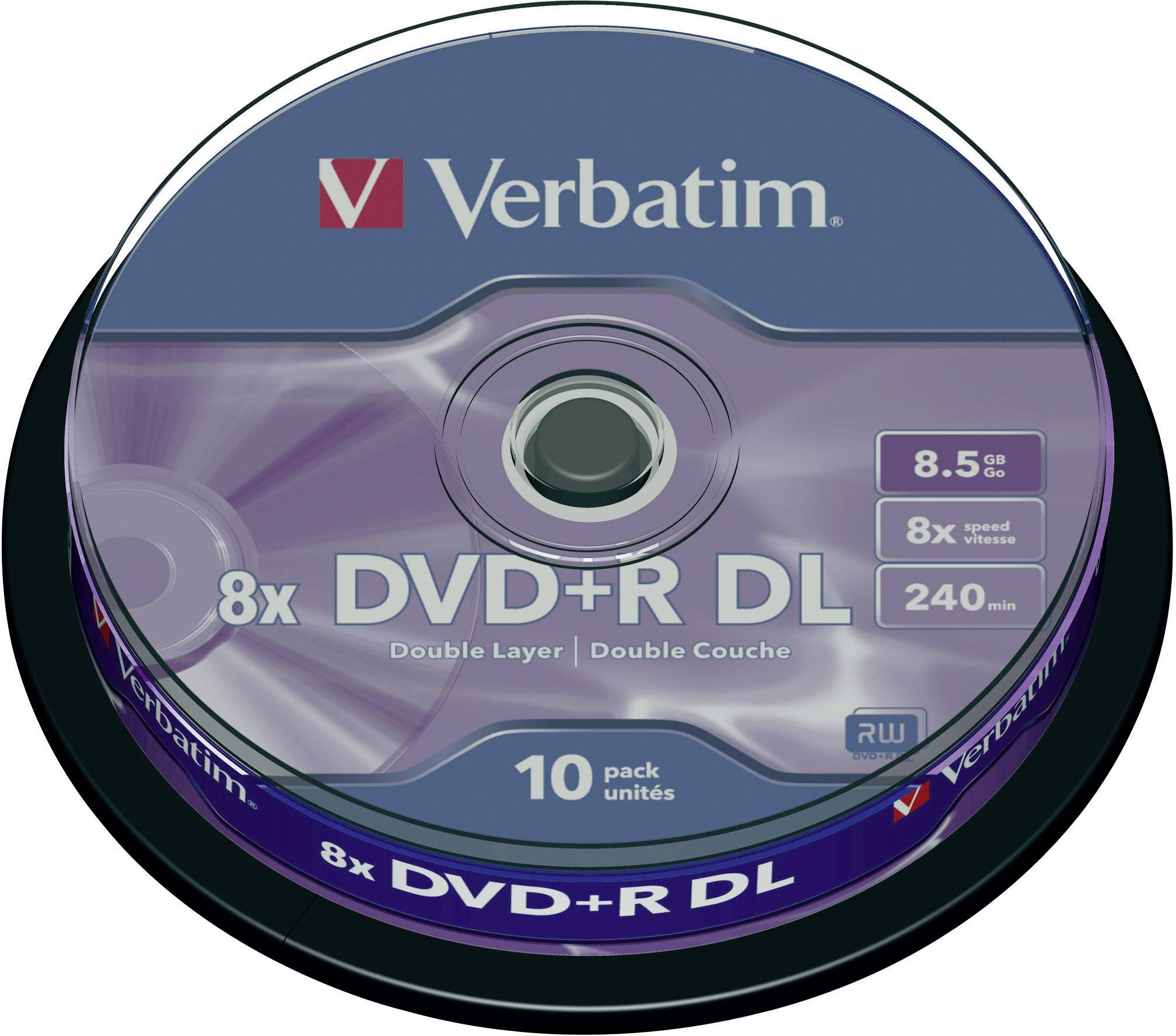 Verbatim DVD+R DL 8,5GB 8X 10 ks cake box