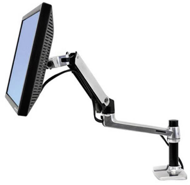 """Stolový držiak monitoru Ergotron 45-241-026, 25,4 cm (10"""") - 81,3 cm (32""""), strieborná"""