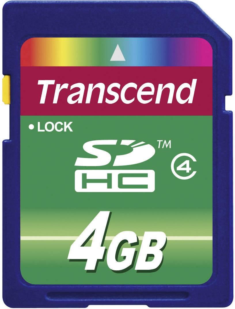 Pamäťová karta SDHC 4 GB, Transcend Standard, Class 4