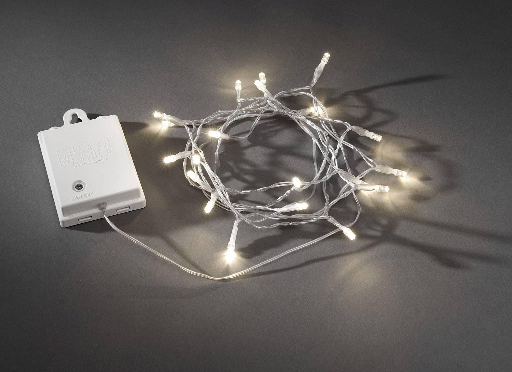 Svetelná reťaz s mikro LED Konstsmide, 80 LED, vonkajšia, biela