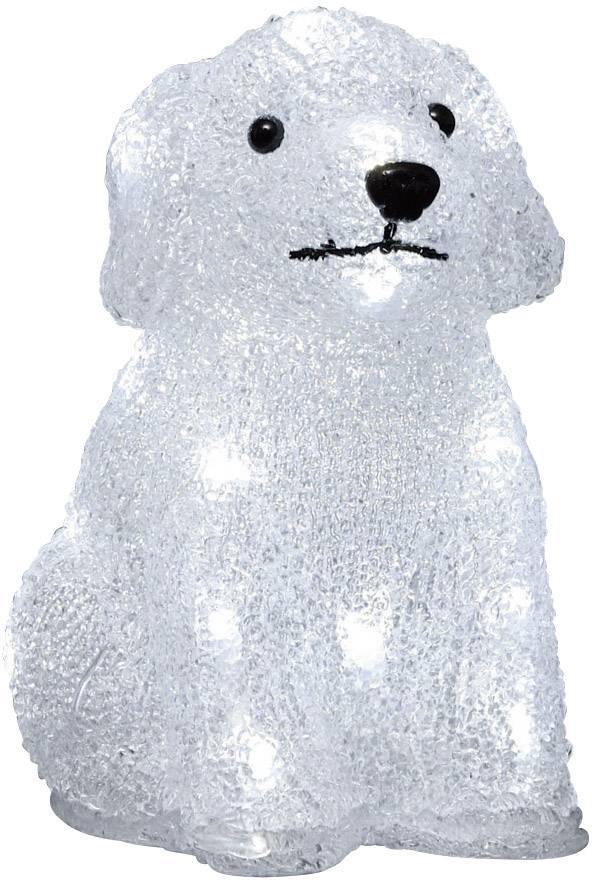 Šteniatko akrylová LED postavička Konstsmide 6178-203, biela