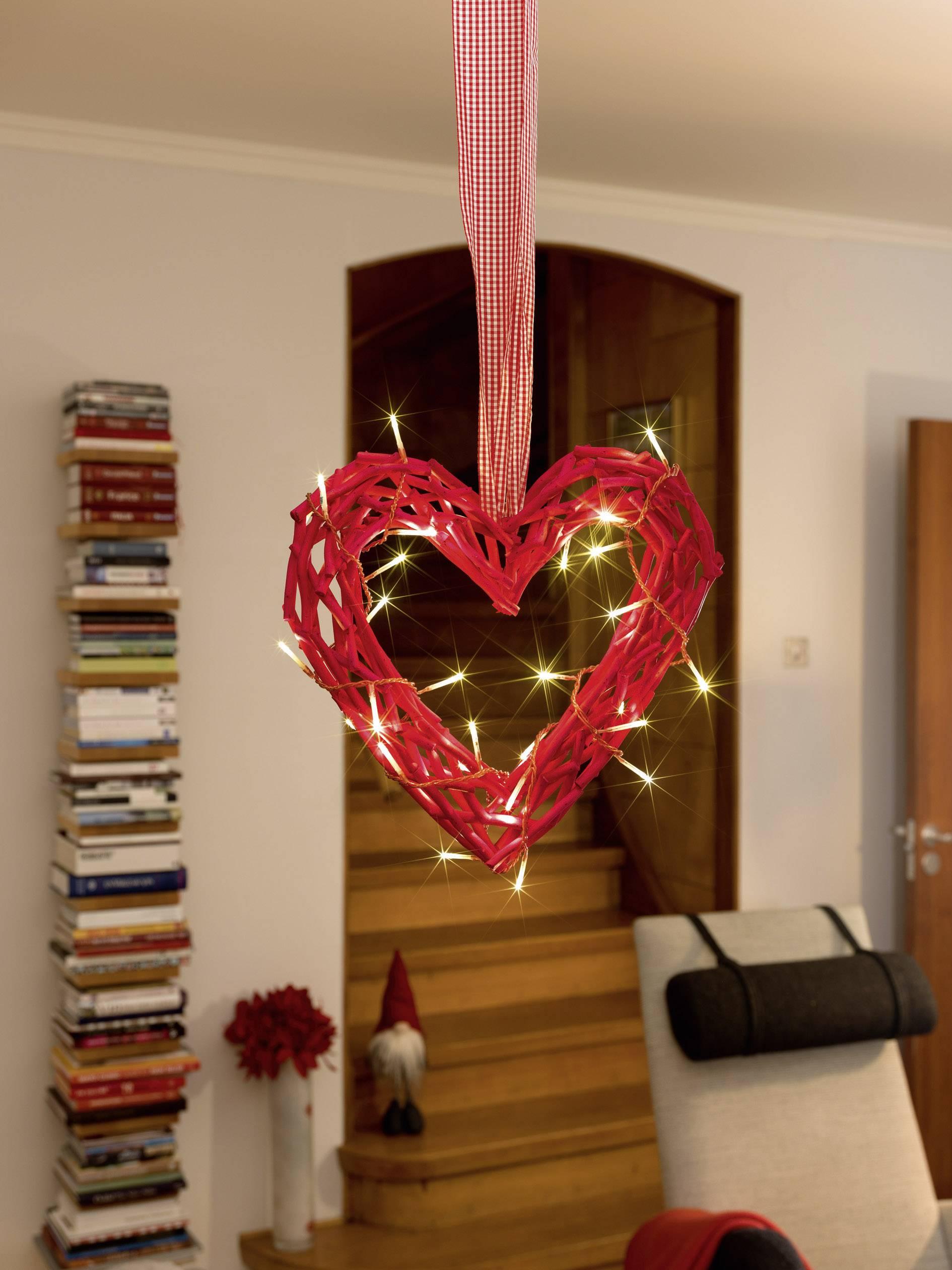 Srdce LED obraz Konstsmide 6217-550, červená