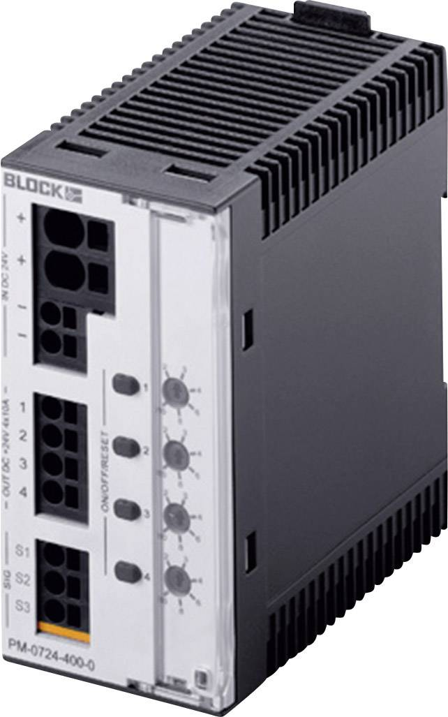 Bezpečnostný spínač na DIN lištu Block PM-0724-400-0, 40 A, 24 V/DC