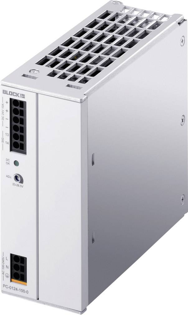 Napájací zdroj na DIN lištu Block PC-0124-100-1, 11 A, 24 V/DC