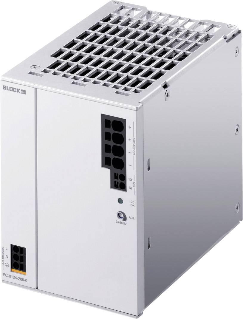 Napájací zdroj na DIN lištu Block PC-0124-200-0, 22 A, 24 V/DC
