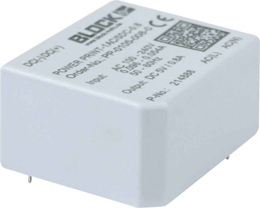 Sieťový zdroj do DPS Block PP-0109-005- 0, 4 W