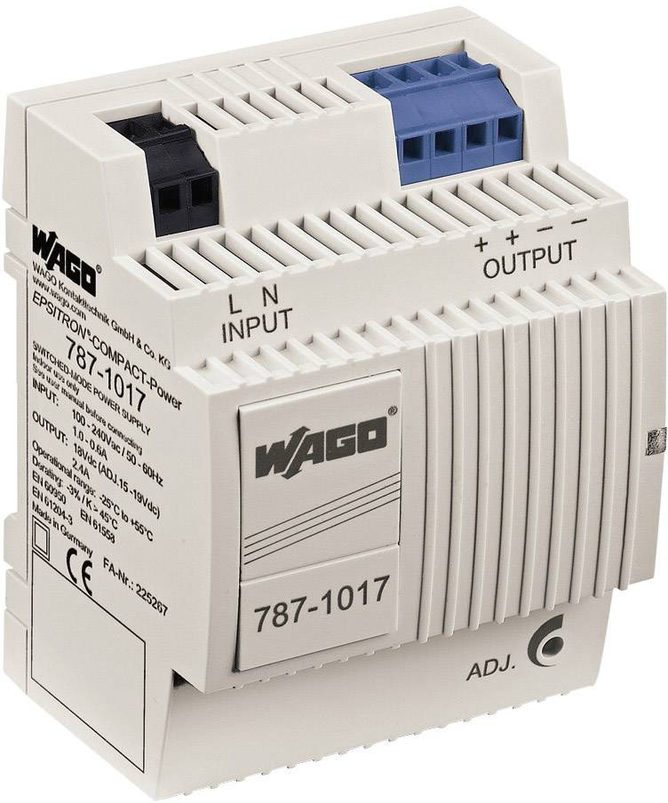 Zdroj na DIN lištu Wago Epsitron Compact Power 787-1017, 2,4 A, 18 V/DC