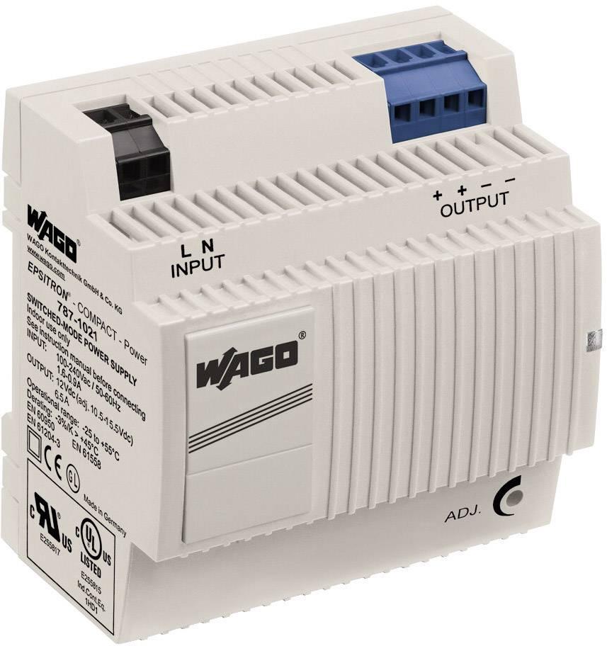 Zdroj na DIN lištu Wago Epsitron Compact Power 787-1021, 6,5 A, 12 V/DC