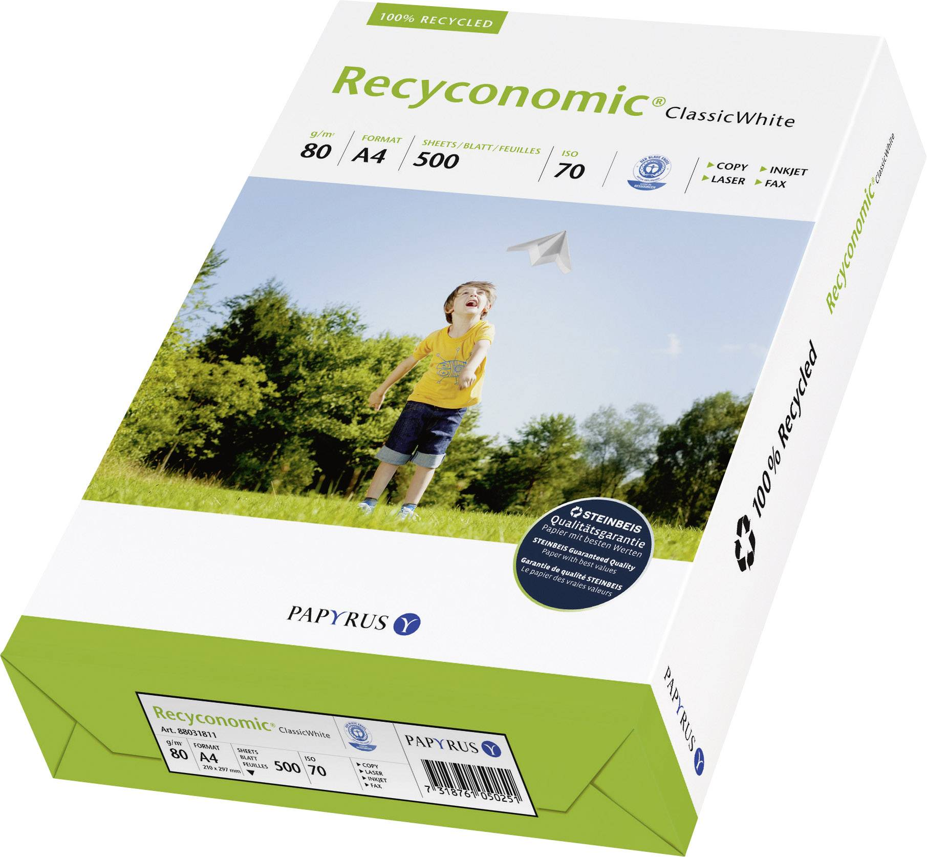 Recyklovateľný papier do tlačiarne
