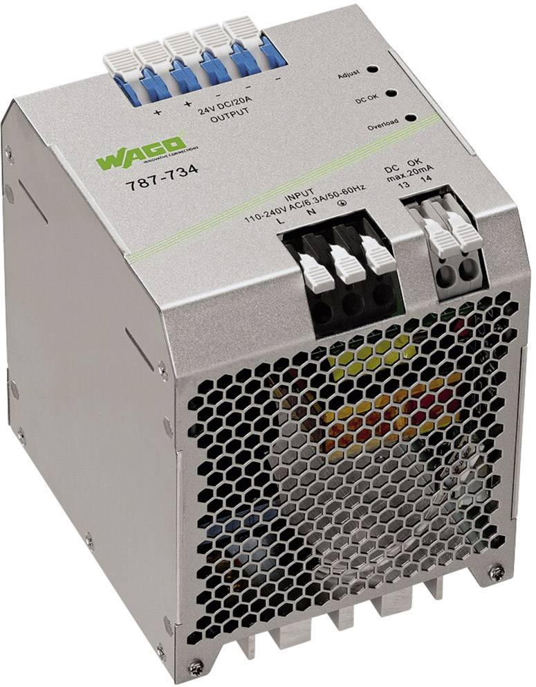Zdroj na DIN lištu Wago Epsitron Eco Power 787-734, 20 A, 24 V/DC