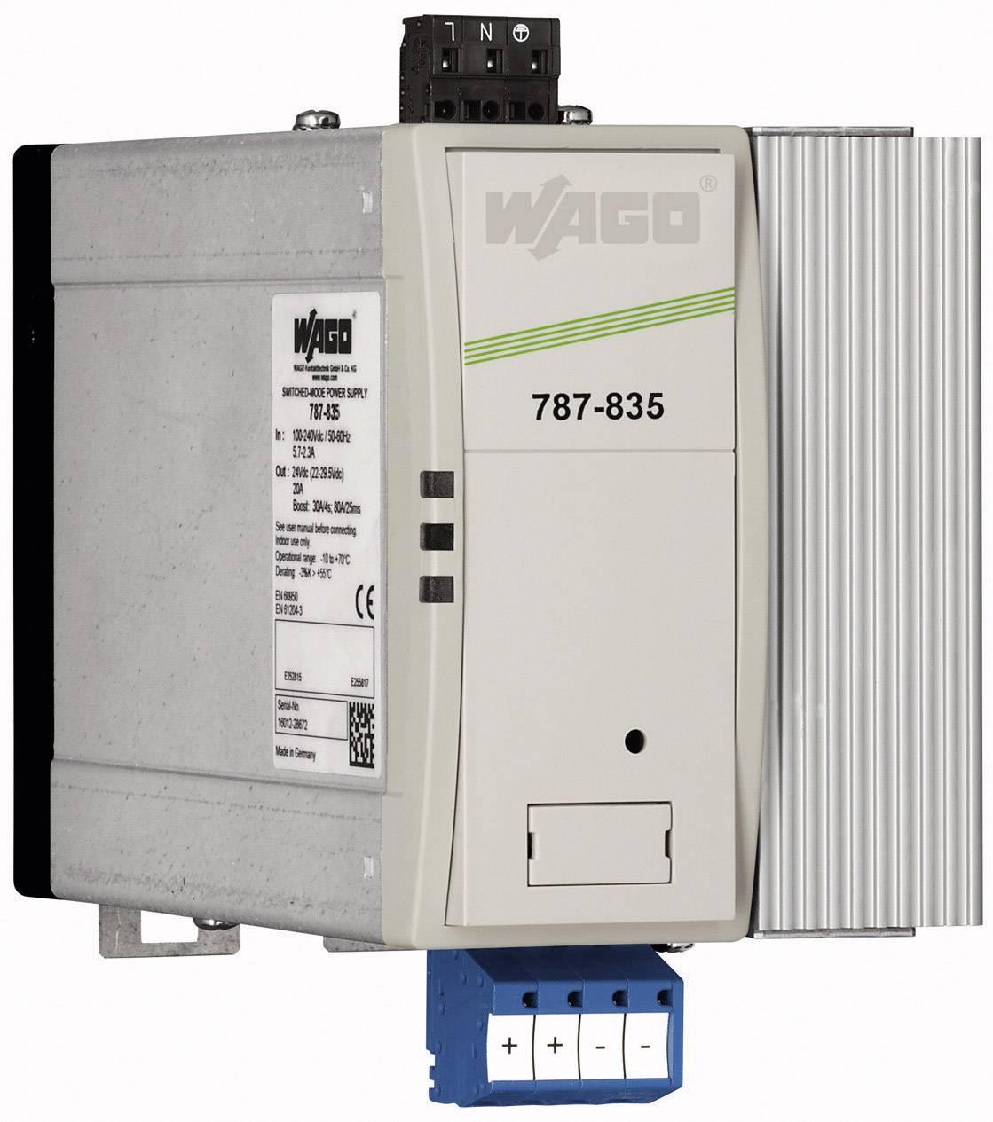 Zdroj na DIN lištu Wago Epsitron PRO Power 787-835, 10 A, 48 V/DC