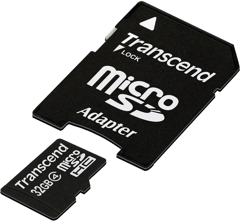 Pamäťová karta micro SDHC, 32 GB, Transcend Standard, Class 4, vr. SD adaptéru
