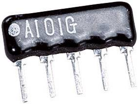 Odporová sieť SIP 4+1, 0,125 W, 100R