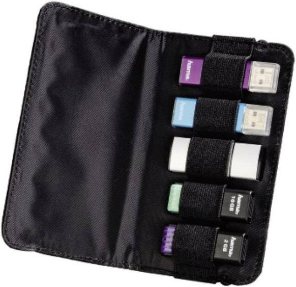 Pouzdro na USB flash Hama, černé