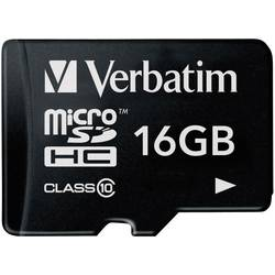 Pamäťová karta micro SDHC, 16 GB, Verbatim Premium, Class 10