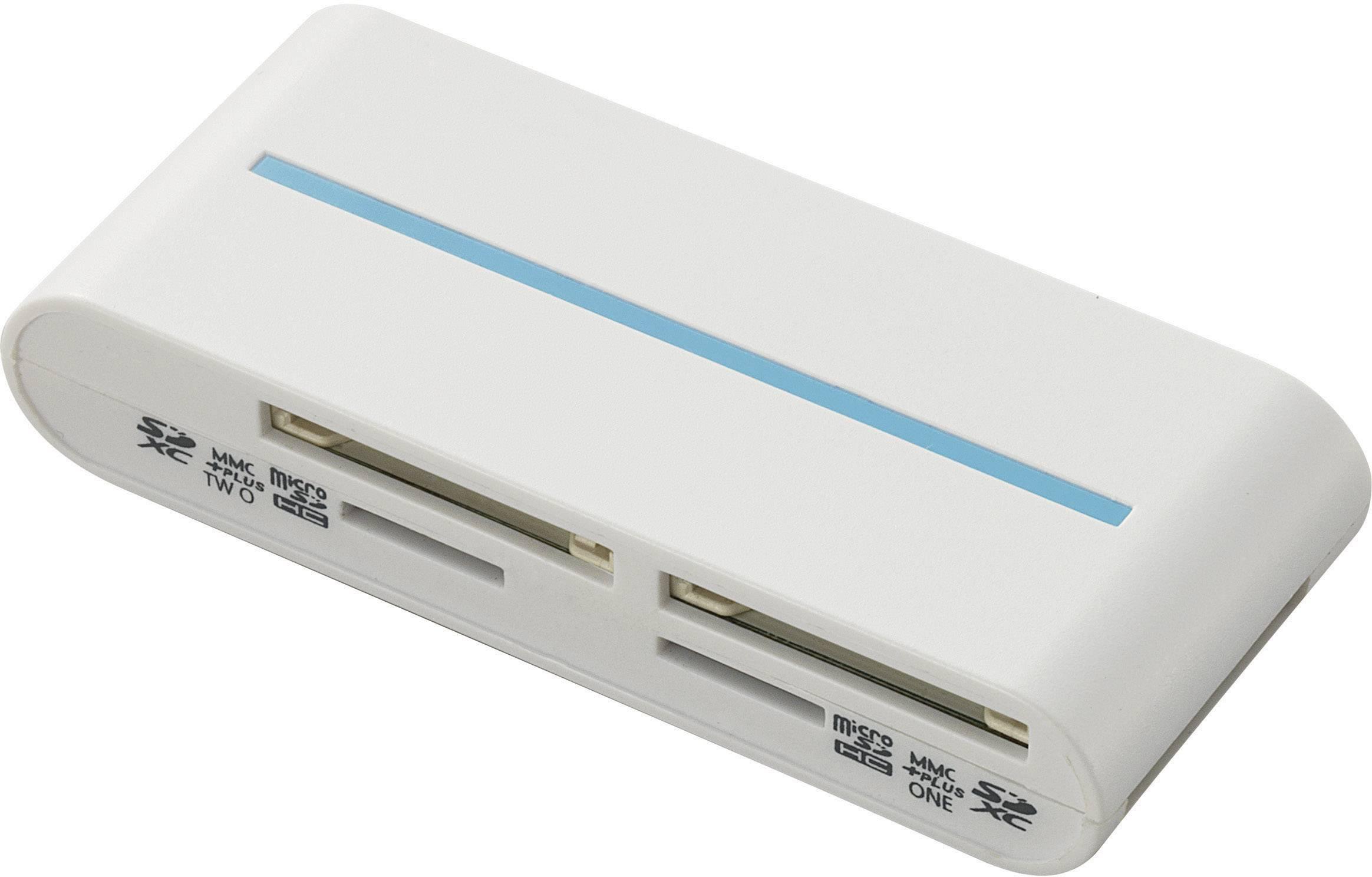 Externí čtečka paměťových karet Renkforce CR25e, USB 3.0, bílá