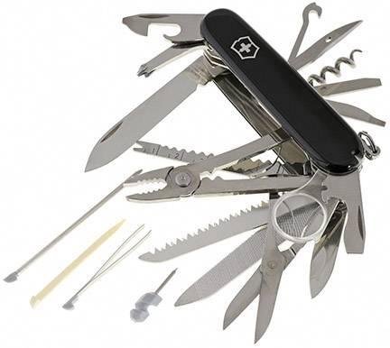 Švýcarský kapesní nožík Victorinox SwissChamp 1.6795.3, černá