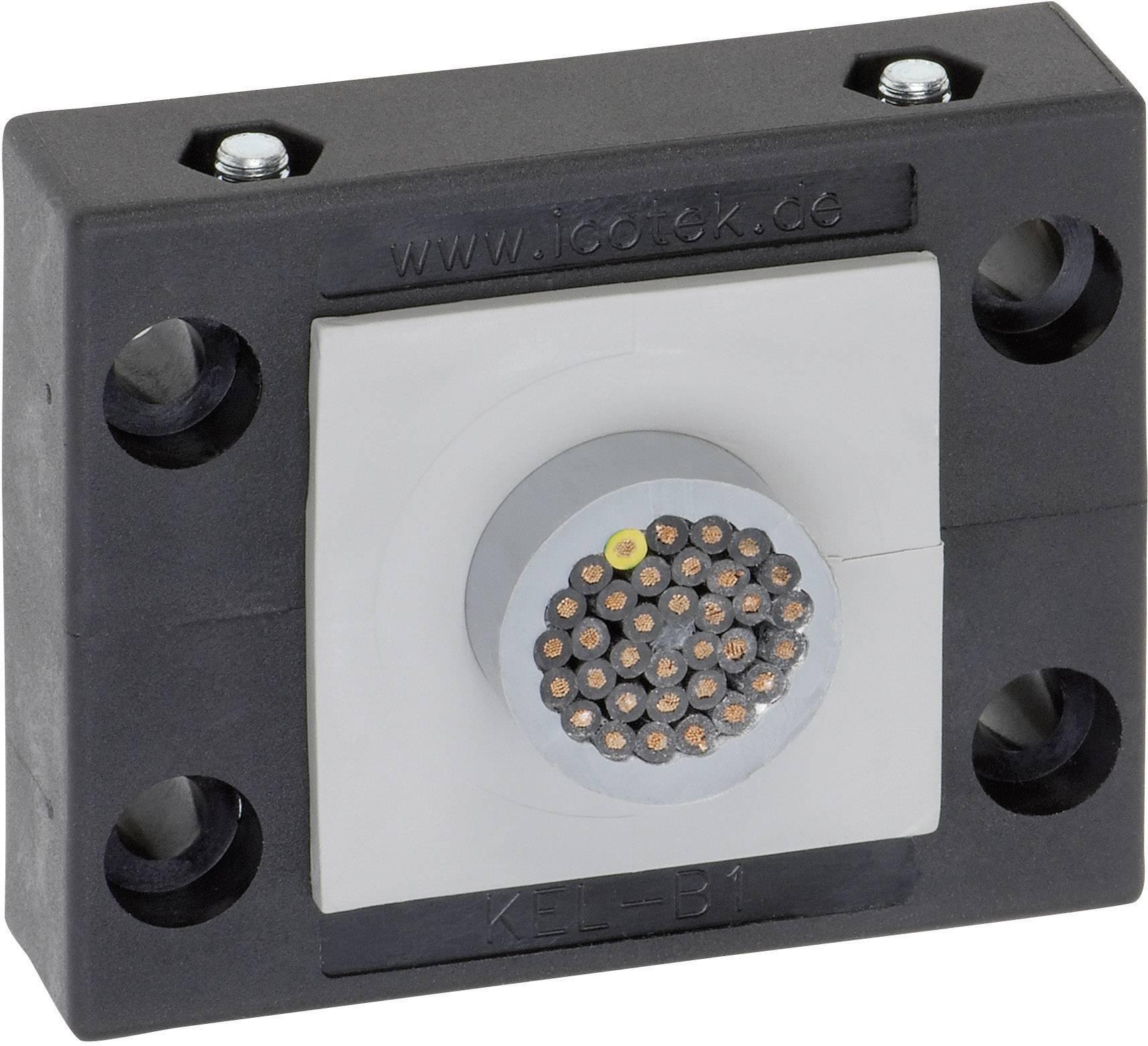Icotek Letev za prehod kablov KEL-B KEL-B1 za kabel- maks. 34 mm, poliamid, črna