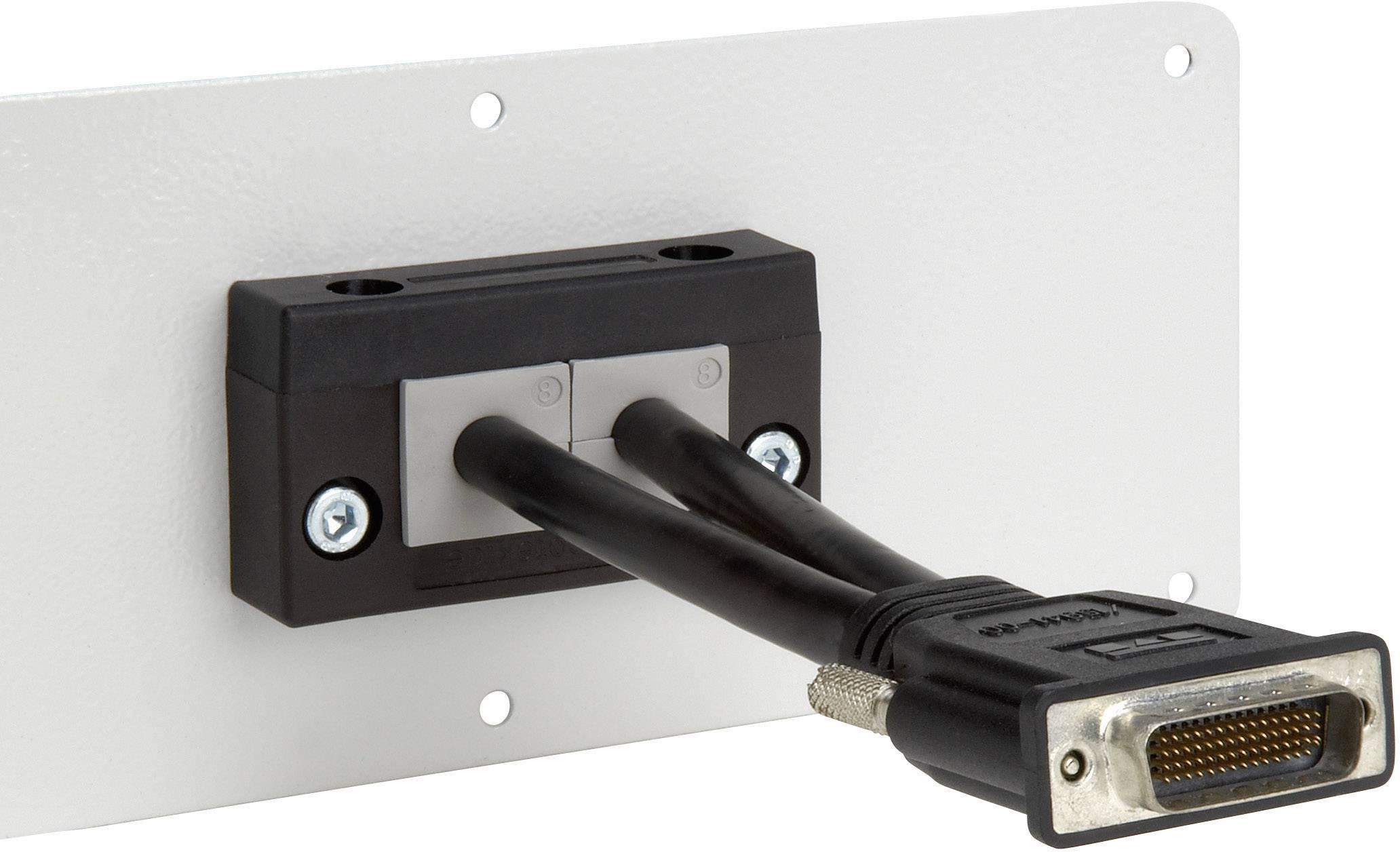 Icotek Letev za prehod kablov KEL-E KEL-E2 za kabel- maks. 17 mm, poliamid, črna