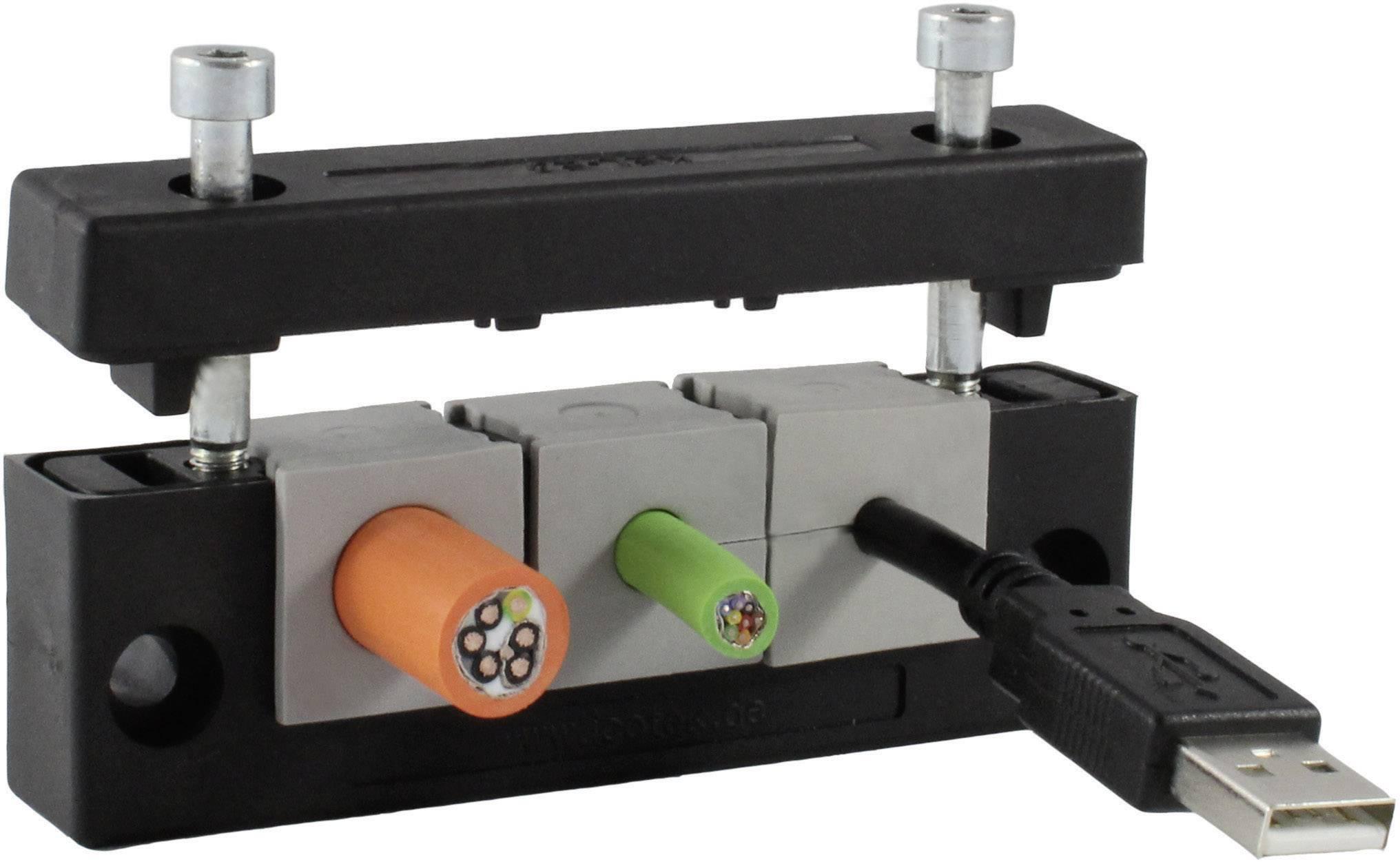 Icotek Letev za prehod kablov KEL-E KEL-E4 za kabel- maks. 17 mm, poliamid, črna