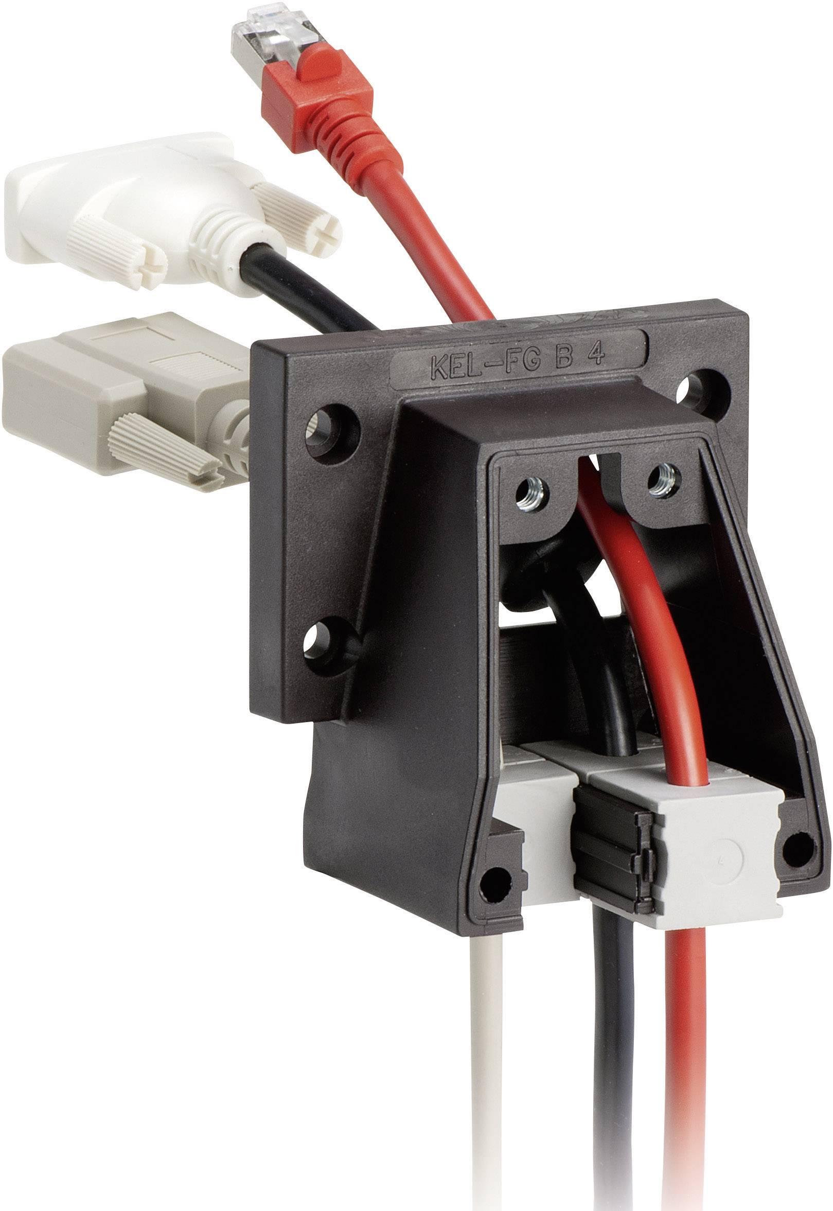 Icotek Ohišje s prirobnico KEL-FE KEL-FG B4 za kabel- maks. 34 mm, poliamid, črna
