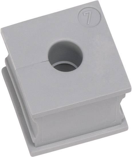 Icotek Kabelska kapa KT majhna, KTs 16 za kabel- 16 mm, elastomer, siva