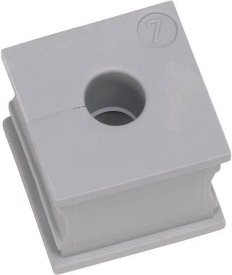 Icotek Kabelska kapa KT majhna, KTs 17 za kabel- 17 mm, elastomer, siva