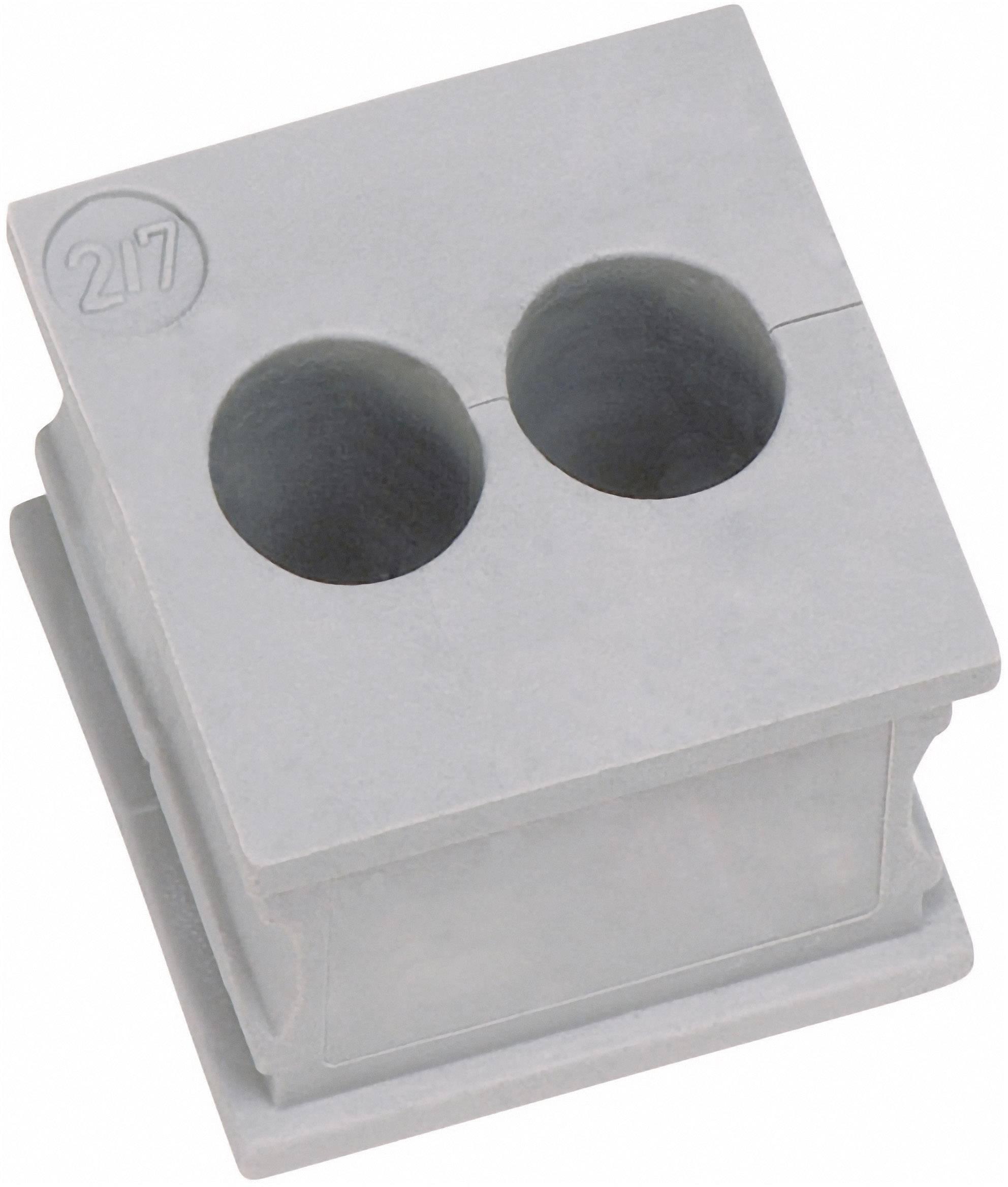Icotek Kabelska kapa KT majhna, KT 2/7 za kabel- 2 x 7 mm, elastomer, siva