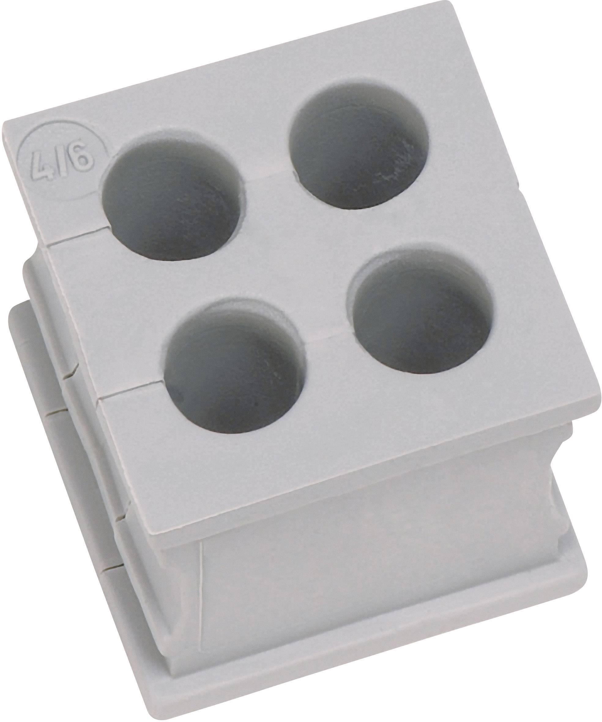 Icotek Kabelska kapa KT majhna, KT 4/3 za kabel- 4 x 3 mm, elastomer, siva