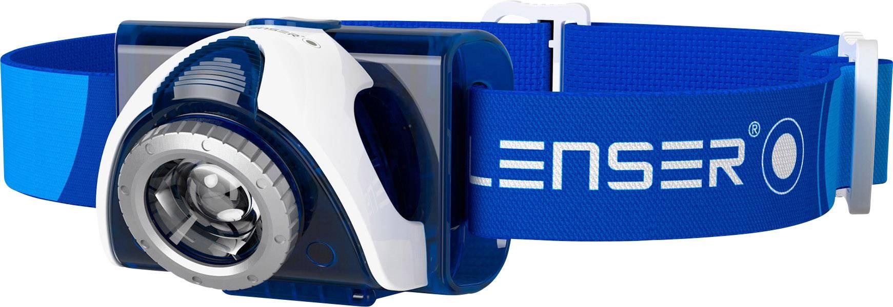 LED čelovka Ledlenser SEO 7R 6107-R, napájanie z akumulátoru, 93 g, modrá