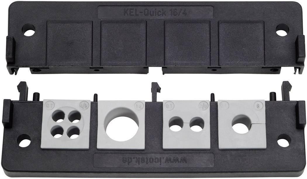 Icotek Letev za prehod kablov KEL-QUICK KEL-Quick 16|8 poliamid, črna