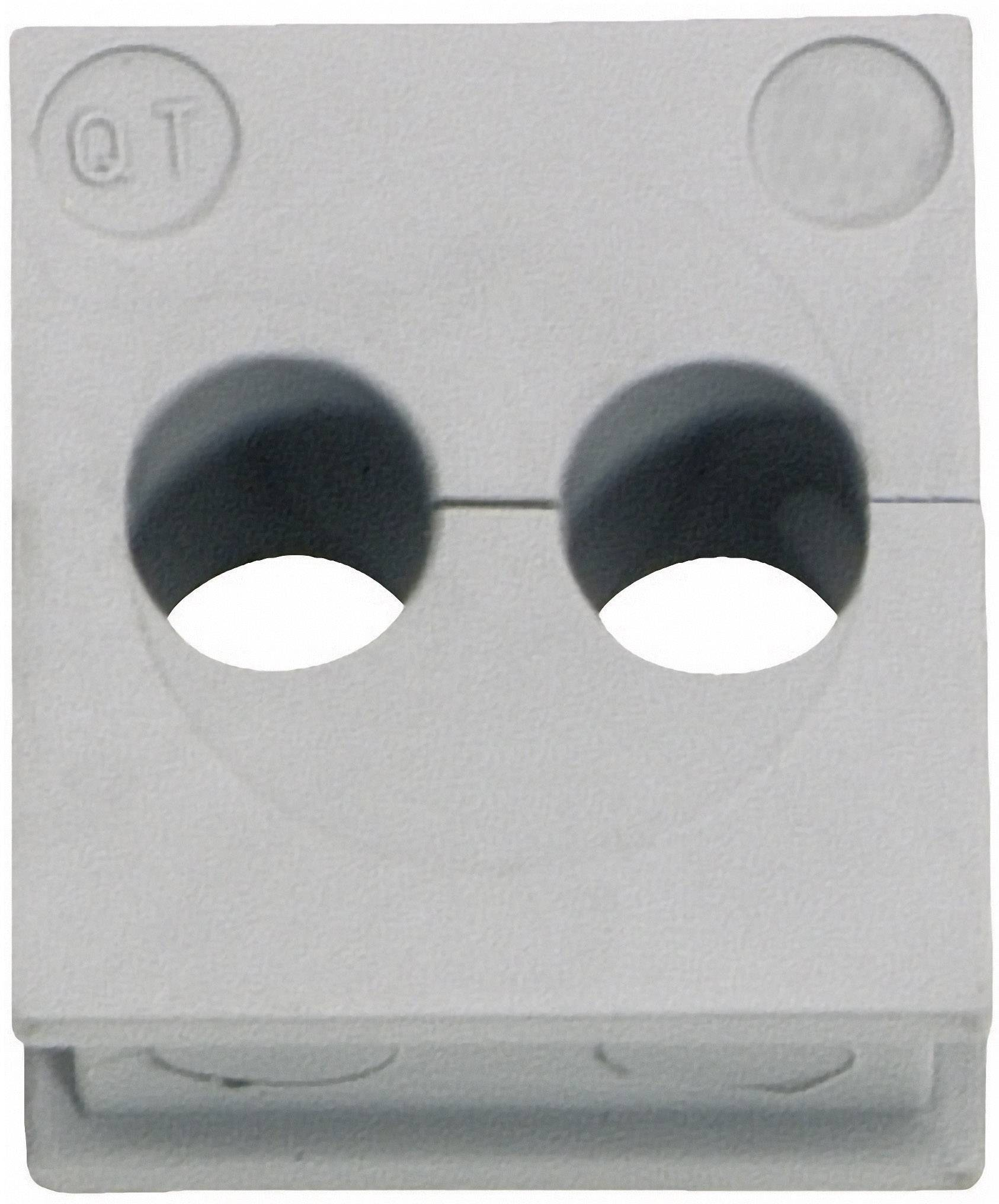 Icotek Kabelska kapa QT QT 2/3 za kabel- 2 x 3 mm, elastomer, siva