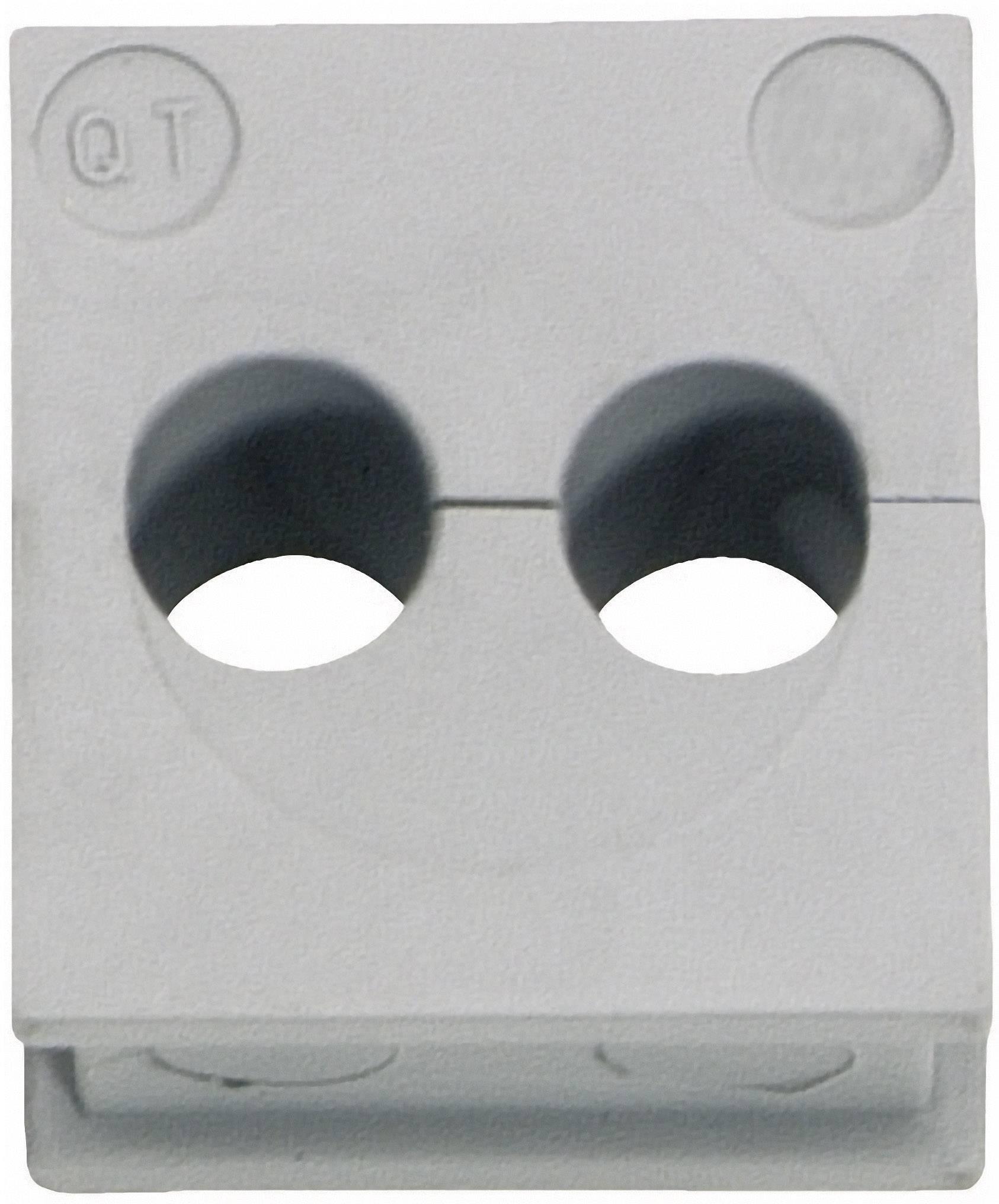 Icotek Kabelska kapa QT QT 2/6 za kabel- 2 x 6 mm, elastomer, siva