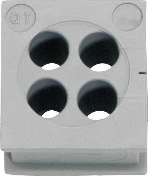 Icotek Kabelska kapa QT QT 4/6 za kabel- 4 x 6 mm, elastomer, siva