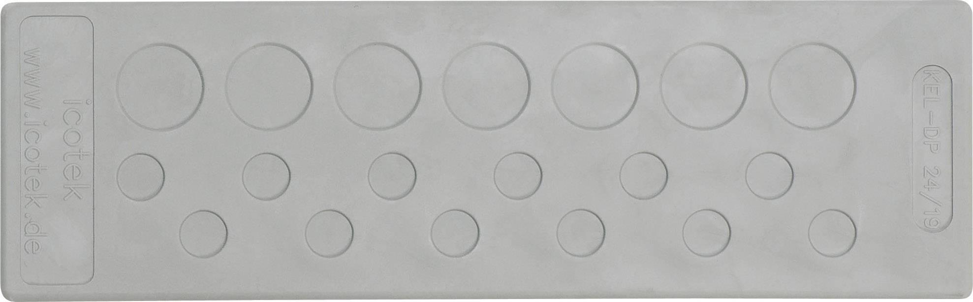 Icotek Uvodnica za prehod kablov KEL-DP 24 KEL-DP 24|48 elastomer, siva