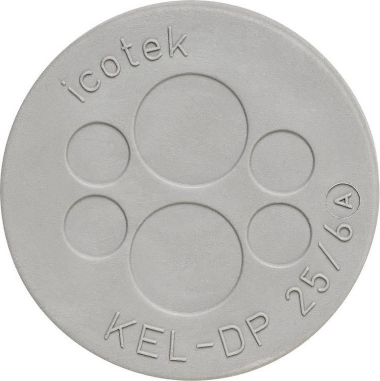 Doštička pre káblové priechodky Icotek KEL-DP 32/10, Ø 9.4 mm, IP65, elastomér, sivá, 1 ks