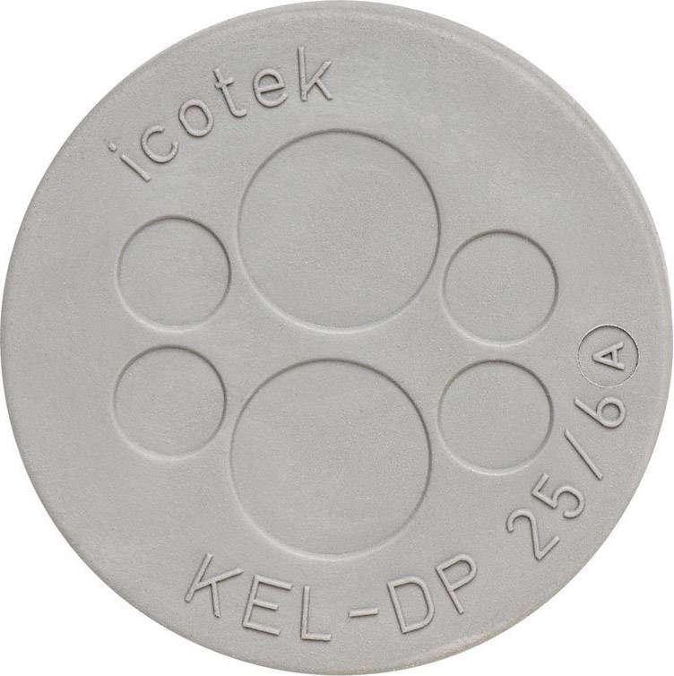 Icotek Uvodnica za prehod kablov KEL DP KEL-DP 25|6 premer odprtine- 25 mm, elastomer, siva