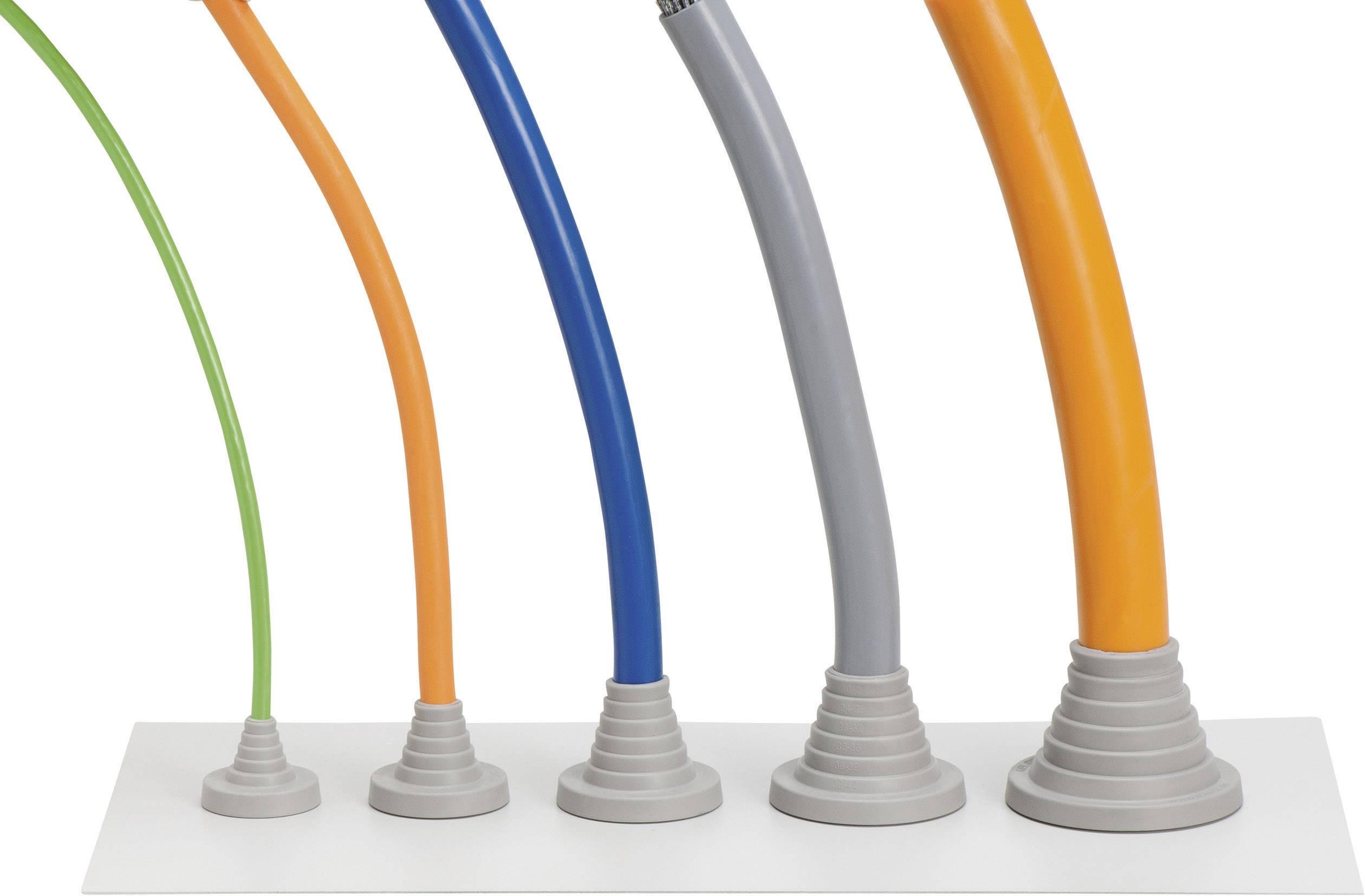 Icotek Uvodna kapa za kable KEL-DPF KEL-DPF 63/23-55 za kabel- 23 - 55 mm, velikost: M63 poliamid/elastomer, siva