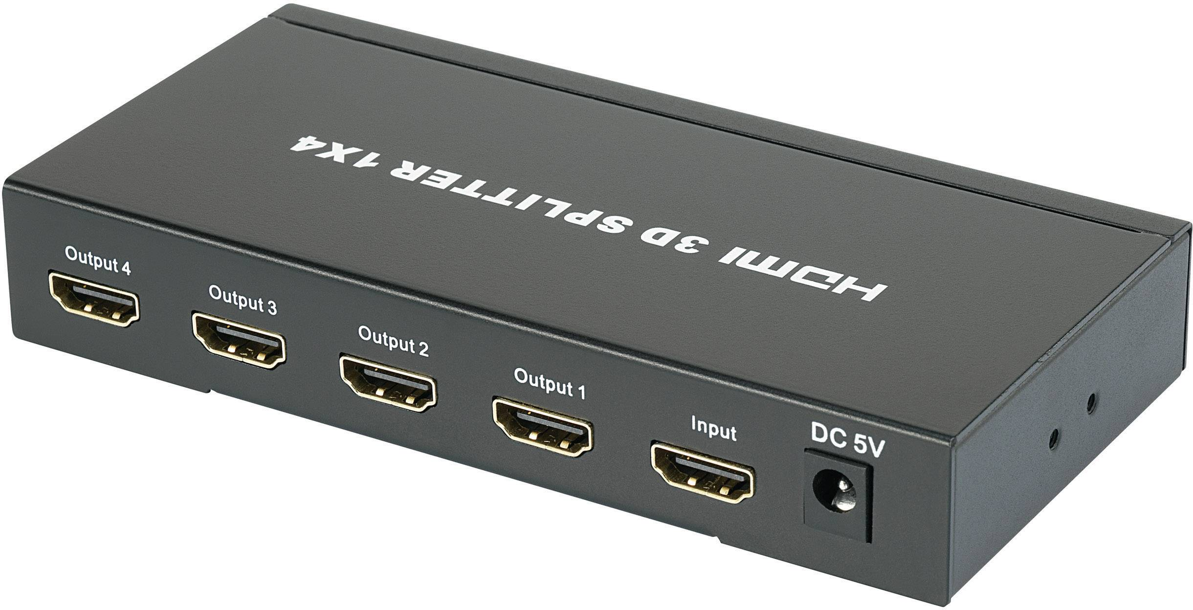 HDMI splitter SpeaKa, 4x port 1920 x 1080 px, čierna