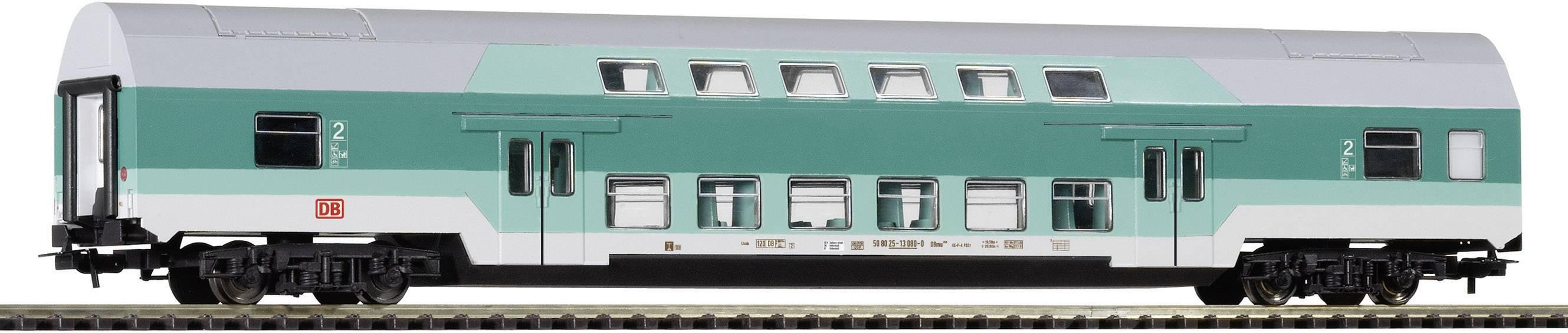 H0 dvojposchodový vlak, model DB AG,TÜRKIS, Piko H0 57680