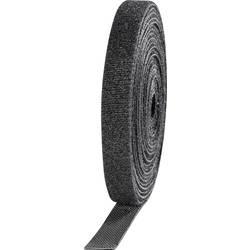 Stahovací páska se suchým zipem TOOLCRAFT KL10X3000C, 3 m x 10 mm, černá, 4 role