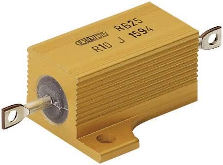 Vysokovýkonný rezistor ATE Electronics RB25/, hodnota odporu 0.1 Ohm, axiálne vývody, 25 W, 1 ks